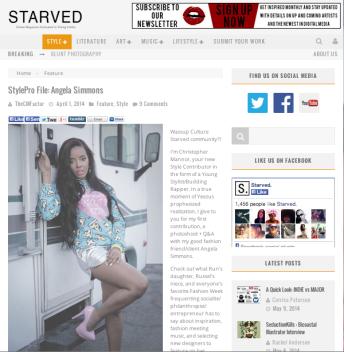 Bukunmi Grace Angela Simmons Starved Magazine
