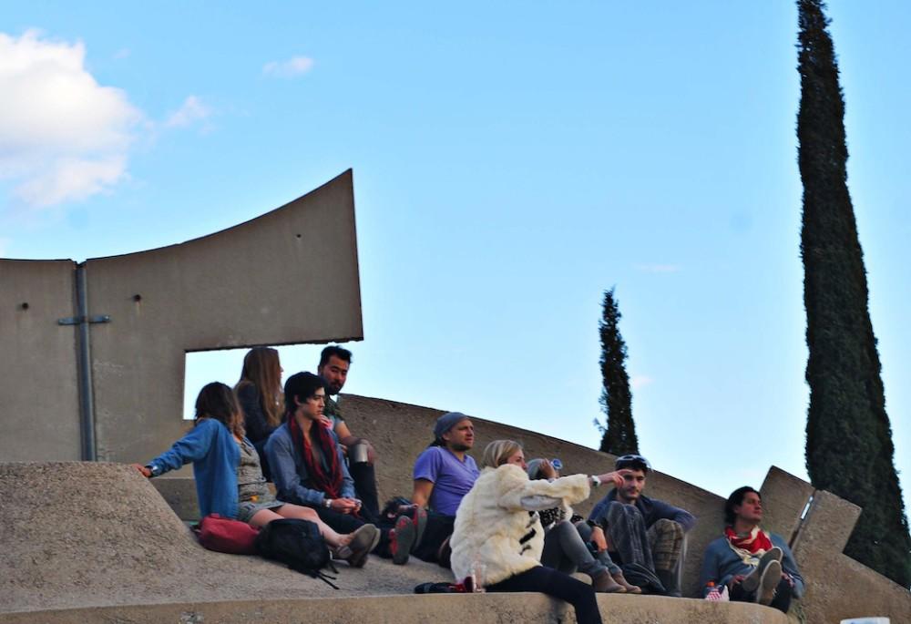 Arcosanti Crowd Rooftop