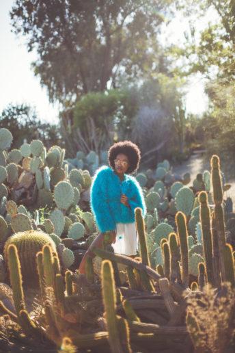 Bukunmi Grace Los Angeles Stylist Emily Soto Blue Fur